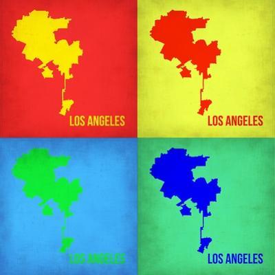 Los Angeles Pop Art Map 1 by NaxArt