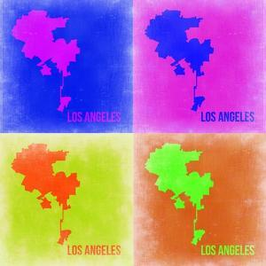 Los Angeles Pop Art Map 2 by NaxArt