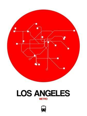 Los Angeles Red Subway Map by NaxArt