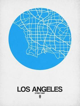 Los Angeles Street Map Blue by NaxArt