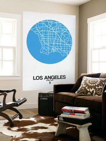 Los Angeles Street Map Blue by NaxArt