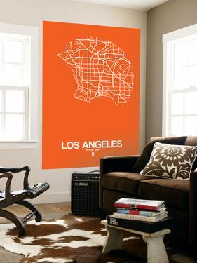 Los Angeles Street Map Orange by NaxArt