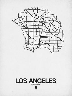 Los Angeles Street Map White by NaxArt
