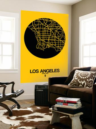 Los Angeles Street Map Yellow by NaxArt