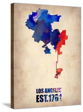 Los Angeles Watercolor Map 1 by NaxArt
