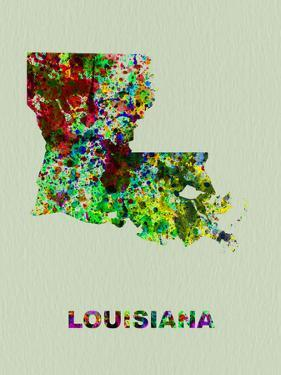 Louisiana Color Splatter Map by NaxArt
