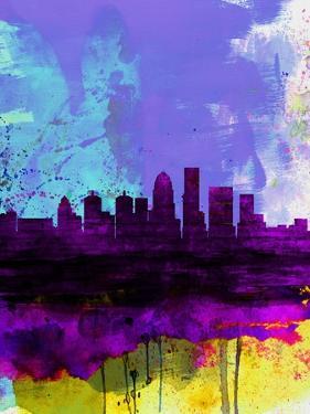 Louisville Watercolor Skyline by NaxArt
