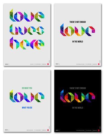 Love Phrase Poster Set
