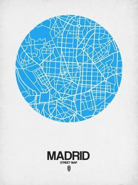 Madrid Street Map Blue by NaxArt