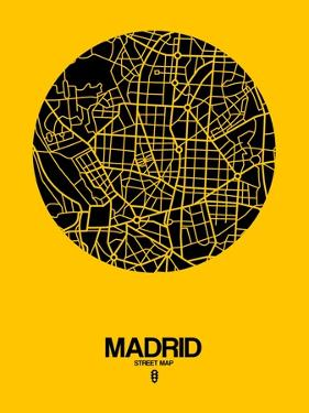 Madrid Street Map Yellow by NaxArt