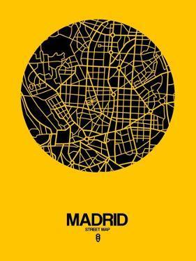 Madrid Street Map Yellow by NaxArt