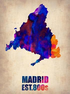Madrid Watercolor Map by NaxArt