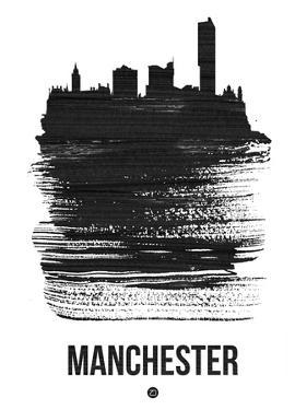 Manchester Skyline Brush Stroke - Black by NaxArt