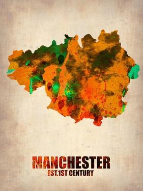Manchester Watercolor Poster by NaxArt