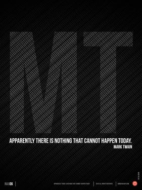 Mark Twain Quote Poster by NaxArt