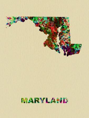 Maryland Color Splatter Map by NaxArt