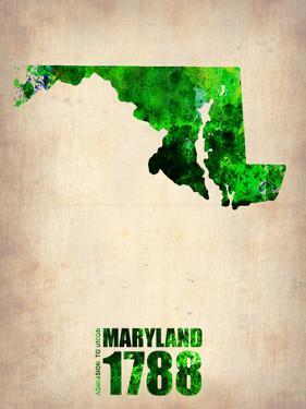 Maryland Watercolor Map by NaxArt
