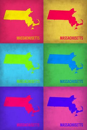 Massachusetts Pop Art Map 1 by NaxArt