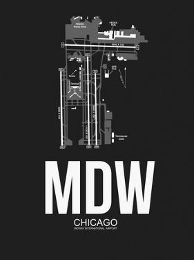 MDW Chicago Airport Black by NaxArt