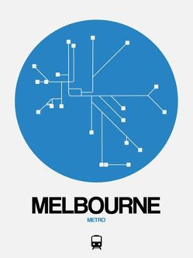 Melbourne Blue Subway Map by NaxArt