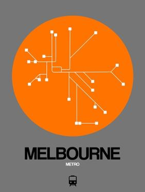 Melbourne Orange Subway Map by NaxArt