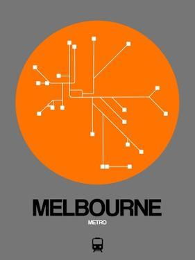 Melbourne Orange Subway Map by NaxArt