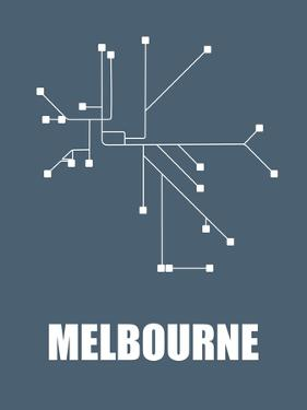 Melbourne Subway Map I by NaxArt