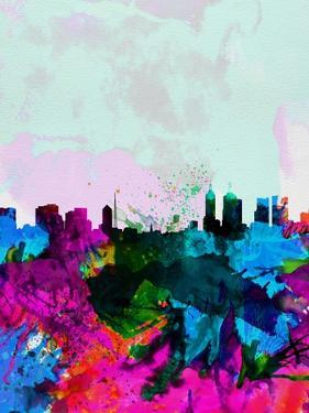 Melbourne Watercolor Skyline by NaxArt