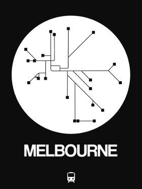 Melbourne White Subway Map by NaxArt