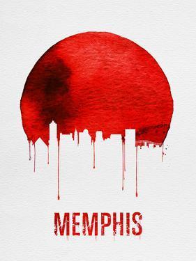 Memphis Skyline Red by NaxArt