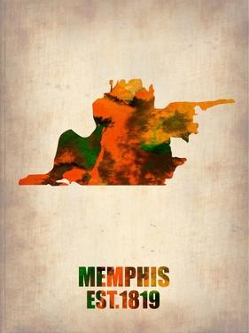 Memphis Watercolor Map by NaxArt