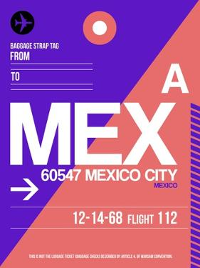 MEX Mexico City Luggage Tag 1 by NaxArt