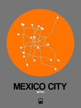 Mexico City Orange Subway Map by NaxArt