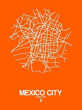 Mexico City Street Map Orange