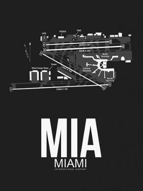MIA Miami Airport Black by NaxArt