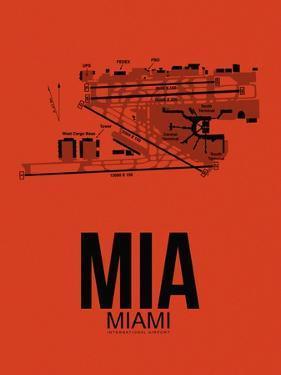 MIA Miami Airport Orange by NaxArt