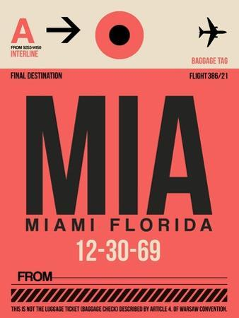 MIA Miami Luggage Tag 1 by NaxArt