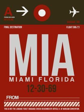 MIA Miami Luggage Tag 2 by NaxArt