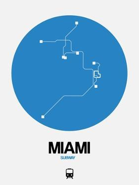 Miami Blue Subway Map by NaxArt