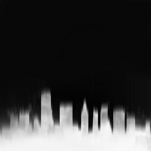 Miami City Skyline - White by NaxArt