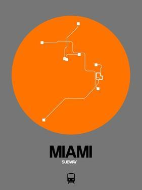 Miami Orange Subway Map by NaxArt