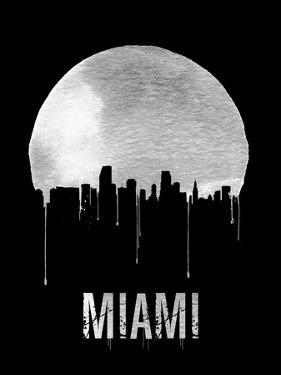Miami Skyline Black by NaxArt