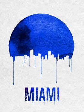 Miami Skyline Blue by NaxArt