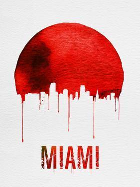 Miami Skyline Red by NaxArt