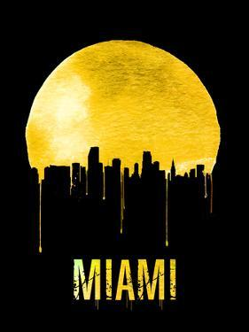 Miami Skyline Yellow by NaxArt