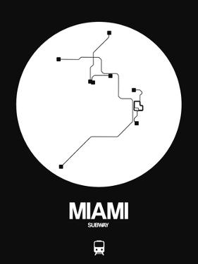 Miami White Subway Map by NaxArt