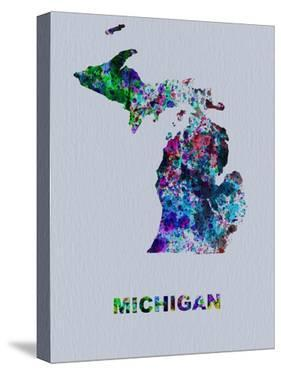 Michigan Color Splatter Map by NaxArt