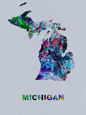 Michigan Color Splatter Map by NaxArt