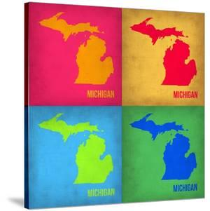 Michigan Pop Art Map 1 by NaxArt