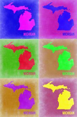 Michigan Pop Art Map 2 by NaxArt